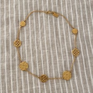 Coach gold disk necklace